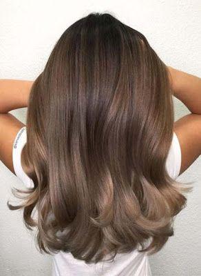 Cerdes Gaya Rambut Wanita Sebahu Tren 2019 Light Chocolate Hair Color Hair Color Chocolate Cool Hair Color