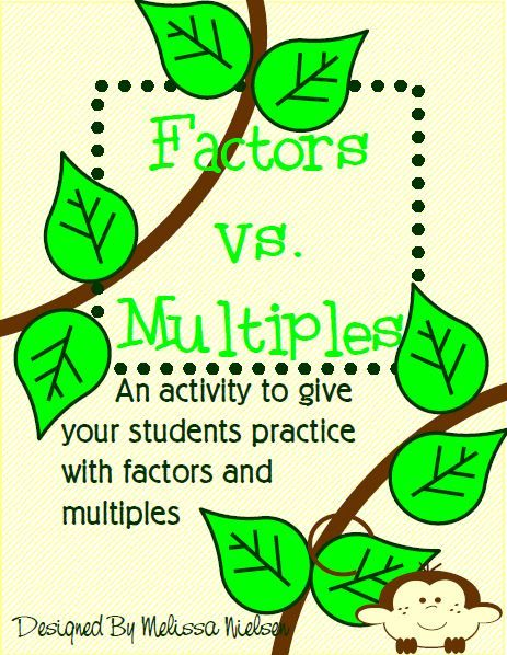 A great activity for practicing factors and multiples.
