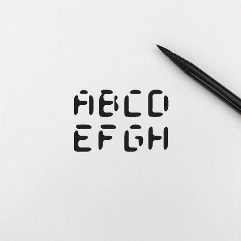 Abcdefgh...i부터 아이디어 고갈.. - #alphabet #typography #graphic #logo #meanimize #simplicity #minimal #art #doodle