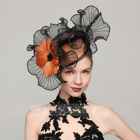 Ladies' Elegant Cambric/Feather With Feather Fascinators/Kentucky Derby Hats/Tea Party Hats - Hats - JJ's House Chapeaux Pour Kentucky Derby, Kentucky Derby Hats, Wedding Hats, Wedding Party Dresses, Sombreros Fascinator, Batiste, Tea Party Hats, Millinery Hats, Fancy Hats