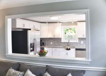 60 Ideas For Kitchen Remodel Open Floor Plan Half Walls Open Concept Kitchen Living Room Living Room Remodel Room Remodeling