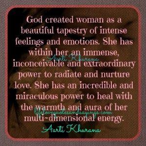 God created woman