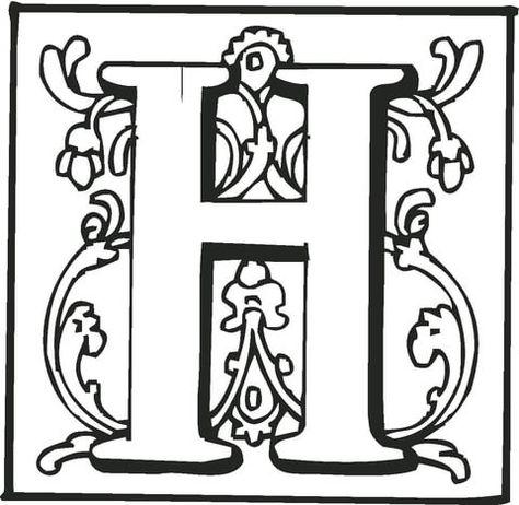 ausmalbilder einzelne buchstaben | amorphi