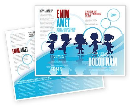 Little Children Brochure Template #07607 Sponsorship Pkg - pamphlet layout template
