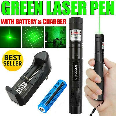 Sponsored Ebay 900miles Strong Light Green Laser Pointer Pen 532nm Lazer Beam Torch Star Cap Us In 2020 Green Laser Pointer Green Laser Laser Pointers