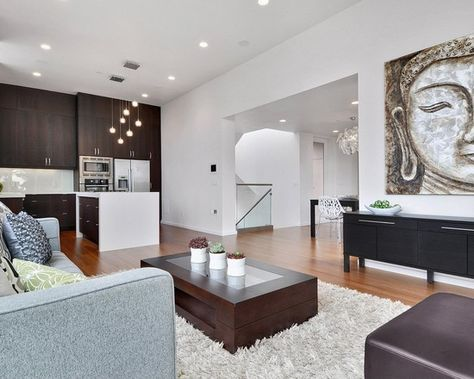 Buddha Enlightens Family Room With Asian Influence | HGTV