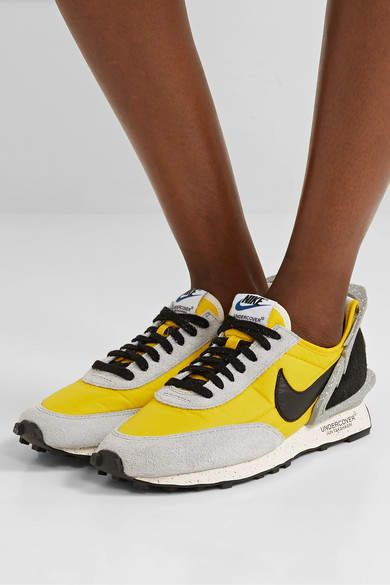 Ordenador portátil Banquete café  Nike - Undercover Daybreak Shell, Suede And Leather Sneakers - Yellow