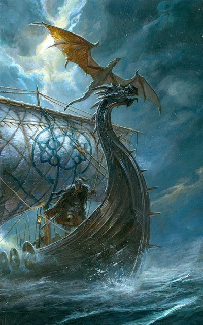 Dragon Vikings By Didier Graffet In 2020 Viking Art Vikings Viking Ship