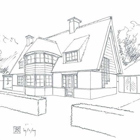Super een huis in perspectief. ik vind het erg mooi getekend want AY-31