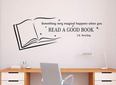 Read A Good Book Wall Quotes Decal Vinyl Sticker Home School library Interior Classroom Decor (10qts
