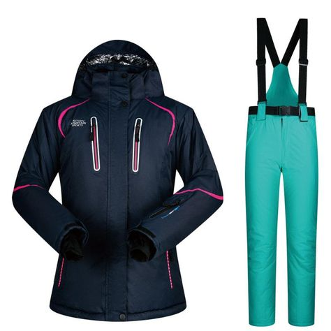 69f442224b Women Ski Suit Winter Ski Jacket And Pants High-quality Windproof  Waterproof Breathable Thermal Skiing Snowboarding Suits Brands