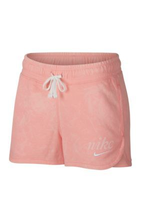 ebad078a57fa Nike Women's Washed Shorts - Bleached Coral/Summit White - Xl in 2019 |  Products | Nike sportswear, Gym shorts womens, Nike