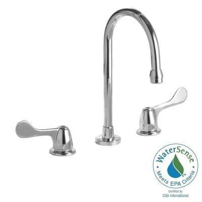 Commercial 8 In Widespread 2 Handle Bathroom Faucet In Chrome