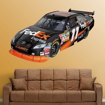 NASCAR Denny Hamlin #11 Car 2010 Wall Graphic by Fathead. Save 3 Off!. $97.48. Fathead wall graphics are made from tough, tear- and fade-resistant vinyl and feature high-resolution 3D graphics. Includes main image and additional separate mini images. Fathead wall graphics use a low-tack adhesive that allows them to be moved and reused without damaging surfaces.