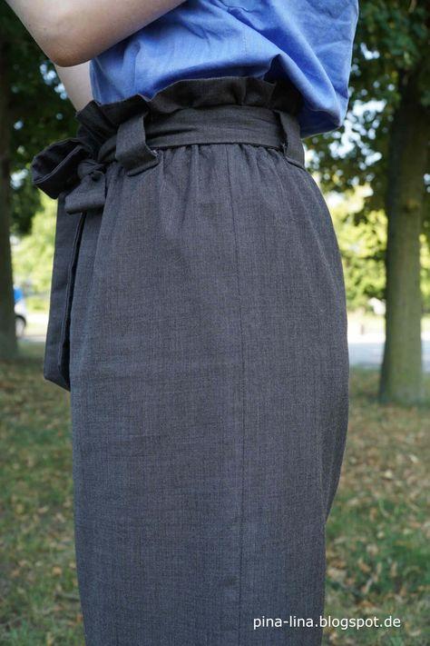Angesagt und einfach zu nähen: Paperbag waist skirt