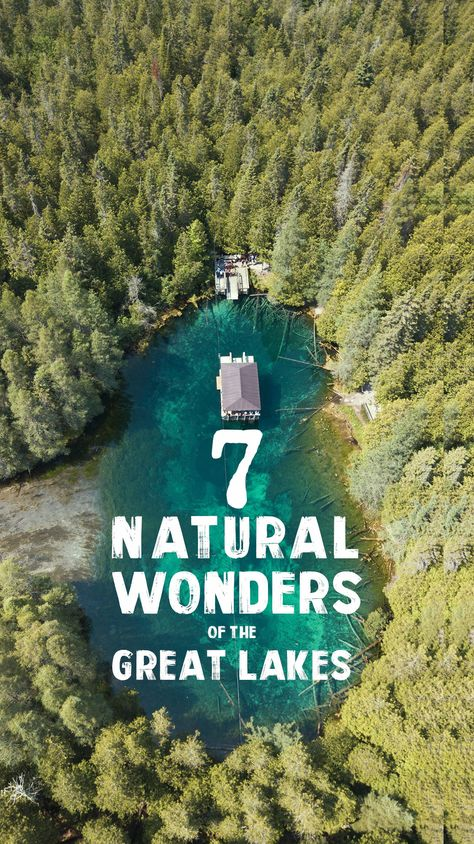 The Great Lakes Region is home to the largest fresh lakes in the world and some crazy features you have to see to believe! Check out with unique destinations made our list of the 7 Natural Wonders of the Great Lakes! Vacation Places, Vacation Spots, Places To Travel, Places To See, Vacation Ideas, Michigan Travel, Lake Michigan, Lakes In Michigan, Lakes In California
