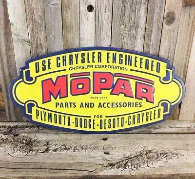 MOPAR Parts /& Accessories Vintage Tin Metal Sign