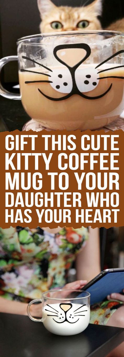 Meeeow! This fun, over-sized Kitty Coffee Mug, with comfort grip handle, is cute enough put a smile on anyone's face-literally!