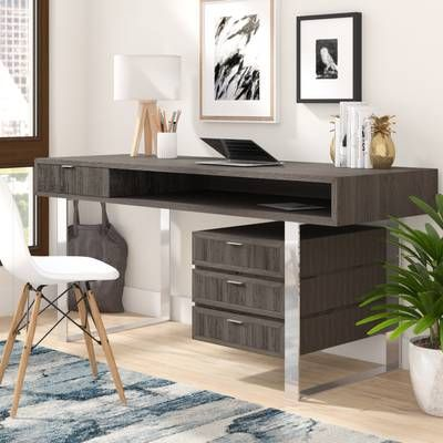 Elegant Contemporary Style Wooden Writing Desk Grey Solid Wood Writing Desk Home Decor Home Decor Styles
