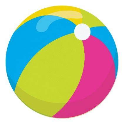 Pool Party Beach Ball Invitation Zazzle Com Festa Na Piscina