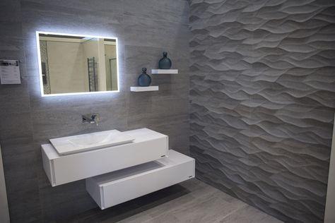 Inspiring Design Trip Porcelanosa Showroom In Reading Uk 3d Tiles Bathroom Modern Bathroom Master Bathroom