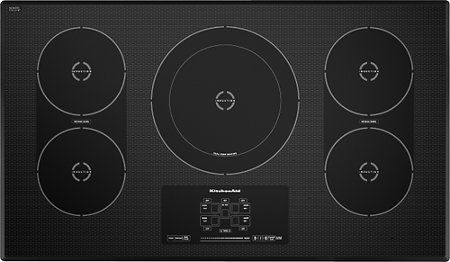 Kitchenaid 36 Built In Electric Induction Cooktop Black Front Standard Stainless Steel Cooktop Induction Cooktop Cool Things To Buy