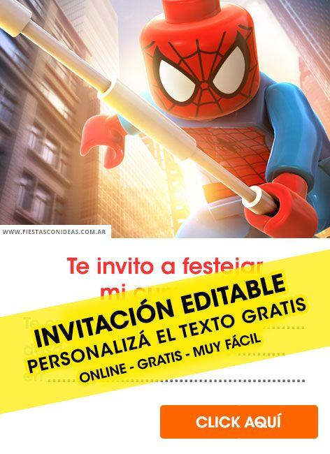 25 Tarjetas De Cumpleaños De Spiderman Hombre Araña