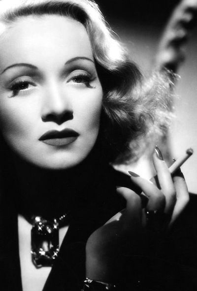 """Marlene Dietrich was one of the most glamorous leading ladies of the 1930's and 1940's. She was most famous for her role of Lola in the movie, """"The Blue Angel""""."""