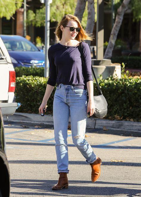 Emma Stone Shopping at Ralph's in Malibu 11/29/15