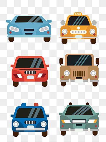 Flat Cartoon Car Material Cartoon Car Color Png Transparent Clipart Image And Psd File For Free Download Car Cartoon Cartoon Car