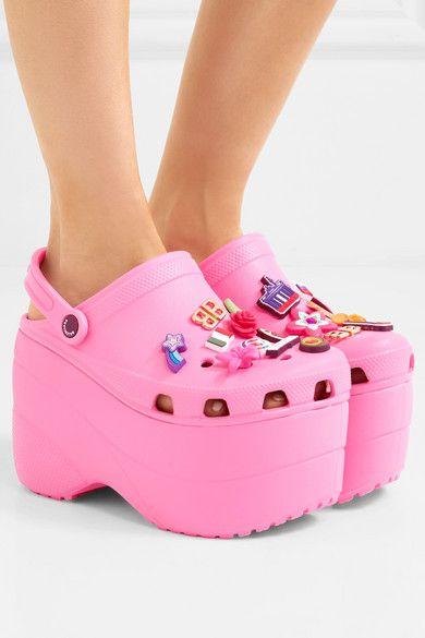 crocs platform pink