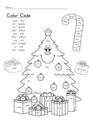 Roll, Read and Color Winter Freebie {Math Kindergarten