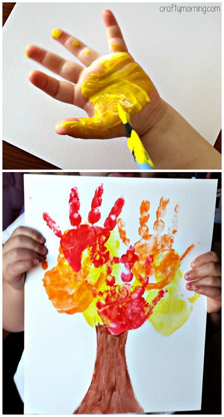 Kids Handprint Fall Tree Craft For