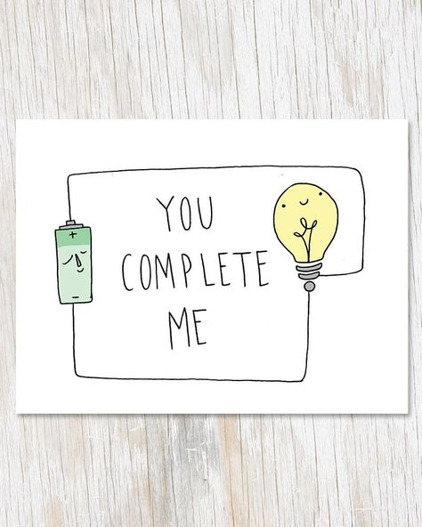 You Complete Me Greetings Card, Physics Electricity Blank Inside Love Card, Geek. Happy Birthday Husband, Birthday Wishes For Boyfriend, Dad Birthday Card, Birthday Wishes Funny, Birthday Love, Birthday Quotes, Diy Anniversary Cards For Boyfriend, Birthday Greetings, Birthday Gifts