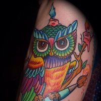 Check Out 30 Awesome Traditional Owl Arm Tattoos. I consolidated a collection of 30 traditional awesome owl arm tattoos for your inspiration if you are looking for owl arm tattoo ideas.