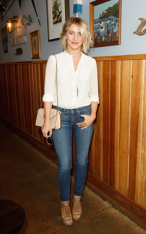 Denim Inspired Outfits - Blue Jeans Outfit Ideas - Cosmopolitan (Cute hair, too)