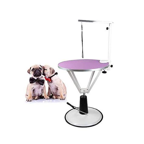 Mc Pig Dog Grooming Table 70cm Pet Cleaning Grooming Table Stainless Steel Hydraulic Pressure Adjustable Pet Comercial Shop Household Color Purple Pet Cleaning Pig Dog Dog Grooming