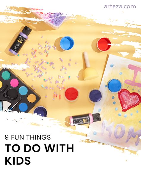 Painting is a great way to explore your imagination and express yourself and its never too early to start!  Check out the blog post for some fun painting ideas you can create with your kids.