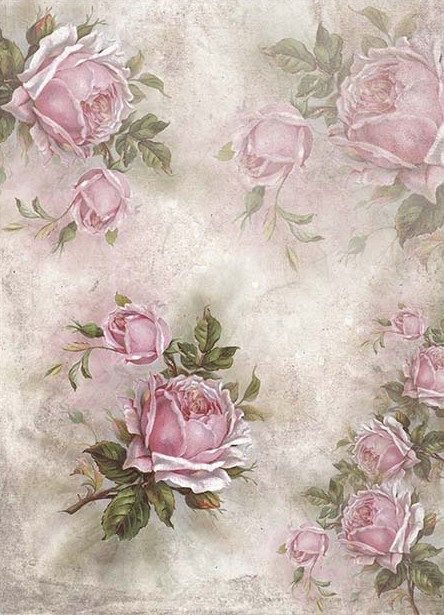 Scrapbooking Rice Paper for Decoupage Sheet Craft Vintage Roses Picture