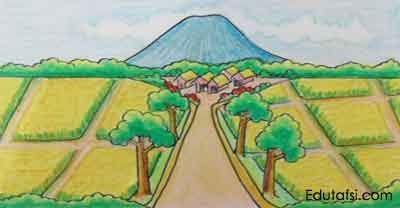 19 Lukisan Pemandangan Untuk Pemula Cara Menggambar Pemandangan Desa Di Tengah Sawah Untuk Download Coba Sensasi Baru Dengan M Pemandangan Gambar Lukisan