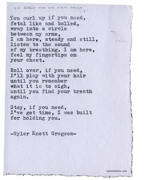 Typewriter Series 2543 by Tyler Knott Gregson Text for