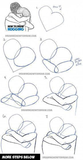Zeichnungen Umarmungen Zeichnen Zeichnet Menschen Schritt Tuwie Zwei Fur Man Wie Fr Tuzeich Drawing Tutorial Hugging Drawing Drawing For Beginners