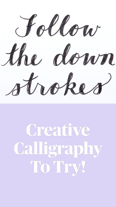 Creative Calligraphy To Try!