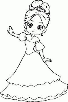 Prenses Boyama Sayfasi Boyama Boyama Sayfalari Boyama