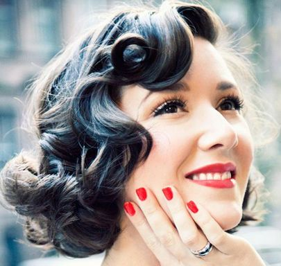 1950S Style Hair Fingerwaves #1950S #hairstyles  1950S Hairstyles  Pinterest .