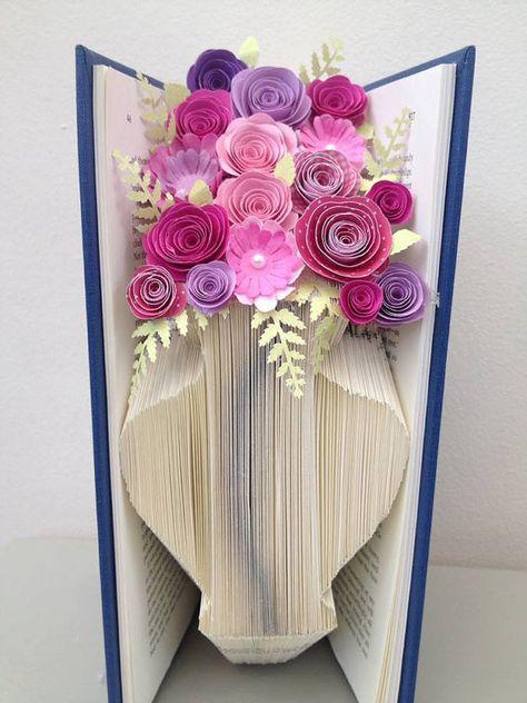Vase Book Folding Pattern and Tutorial Book Art by Foldilocks