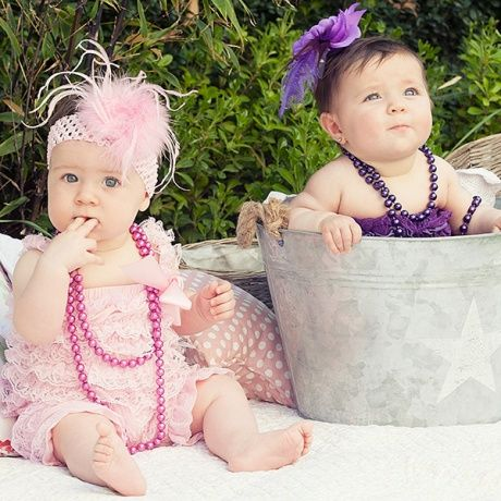 Collares de perlas para bebes