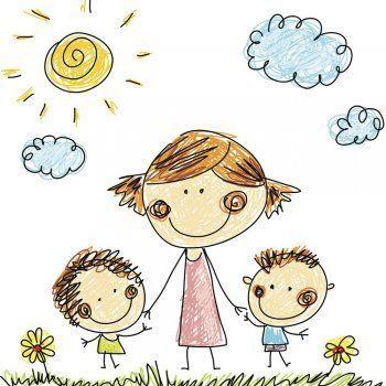 Como Estimular Al Nino A Dibujar Ilustraciones Dibujo Para Mama Dia De Las Madres