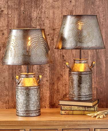 Country Milk Can Table Lamps Milk Can Table Table Lamp Lamp