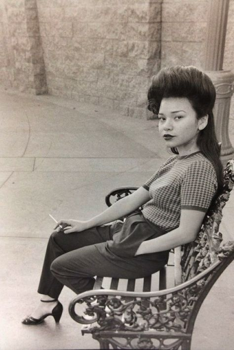 """A """"Pachucha"""" (Mexican-American women in zoot suits) From Boyle Heights.c.1940's"""
